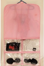 PINK/CLEAR GARMENT BAG