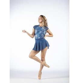 CHIC BALLET DANCEWEAR CO. THE FAITH LEOTARD -  INDIGO BLOOM