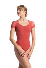 AINSLIEWEAR LYDIA LEOTARD WITH MESH