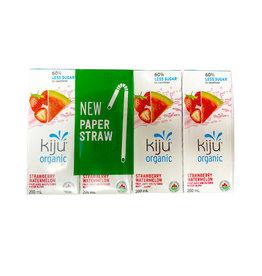Kiju Juice Kiju Juice - Organic Juice, Strawberry Watermelon (4x200ml)