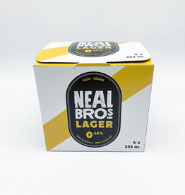Neal Brothers Neal Brothers - Non-Alcoholic Lager, Light 0.45% (4 Pack)