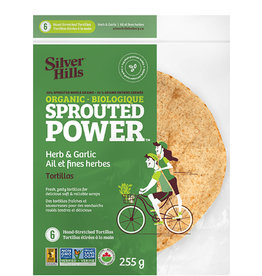 Silver Hills Bakery Silver Hills - Sprouted Tortillas, Herb & Garlic (255g)