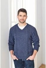King Cole Pattern - Men's Sweater Aran