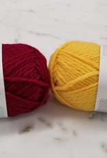 Sandnes Garn Kid's Knitting Kit - Cranberry Red / Sunshine Yellow