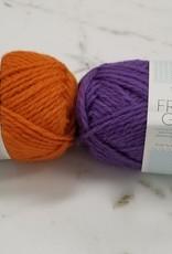 Sandnes Garn Kid's Knitting Kit - Purple Grape / Orange Pumpkin