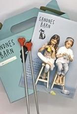 Sandnes Garn Kid's Knitting Kit - Princess Pink/ Rain Cloud Grey
