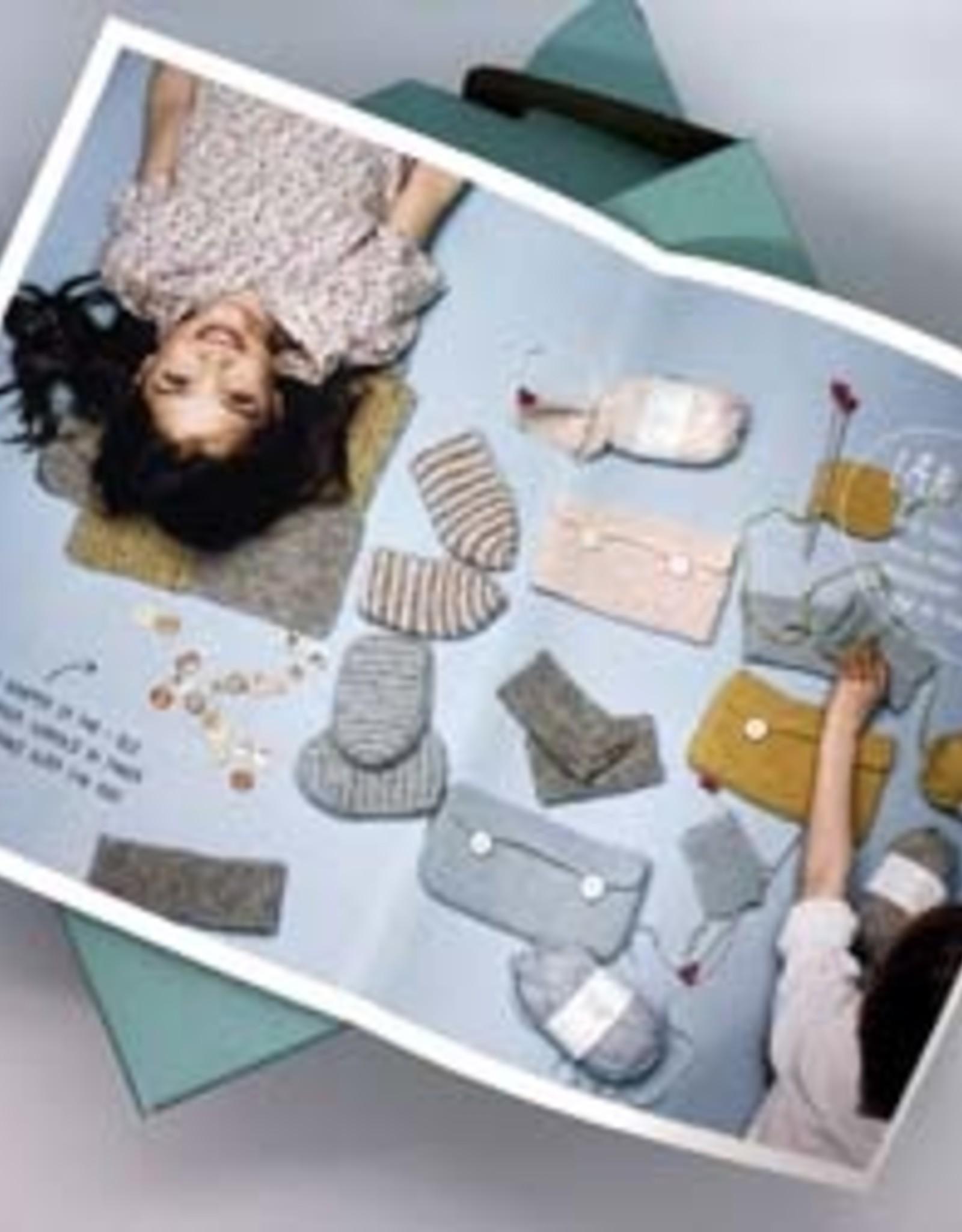 Sandnes Garn Kid's Knitting Kit - Teddy Brown / Teal