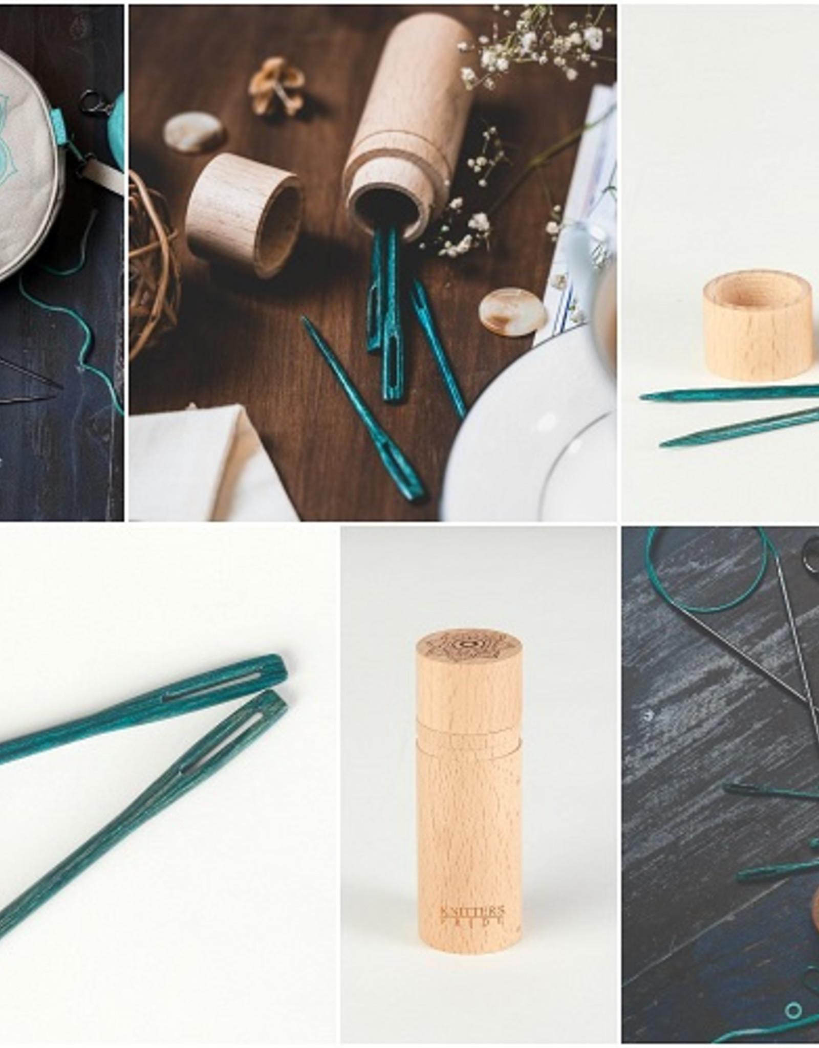 Knitters Pride Wood Darning Needles - Teal