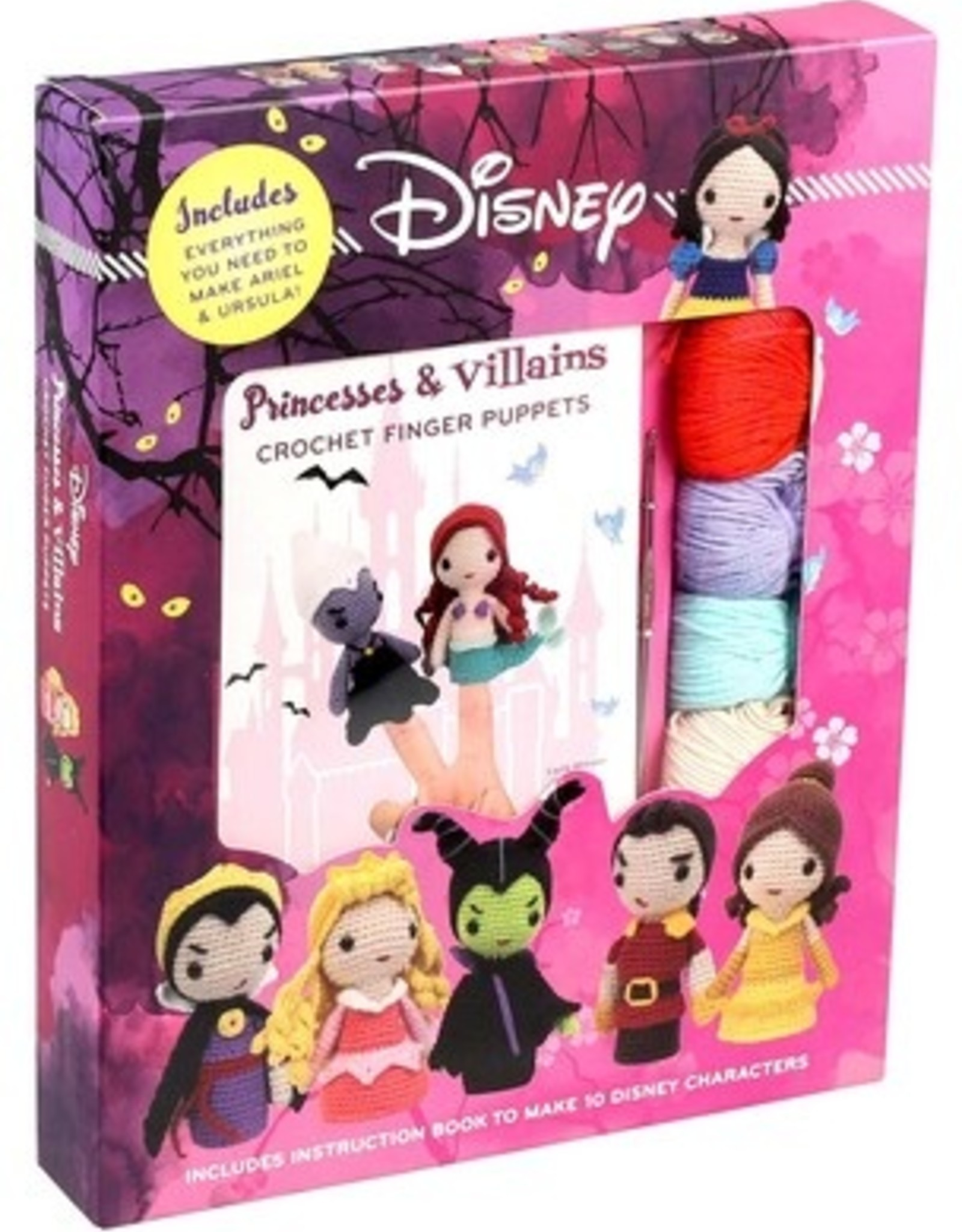 Disney Princesses & Villains Crochet Finger Puppets