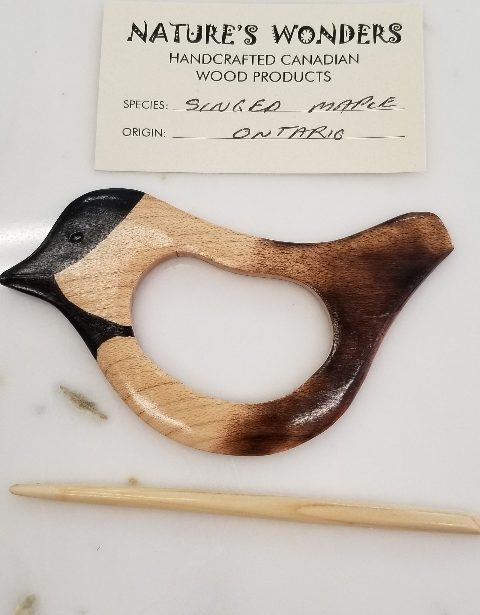 Handmade Wooden Shawl Pin