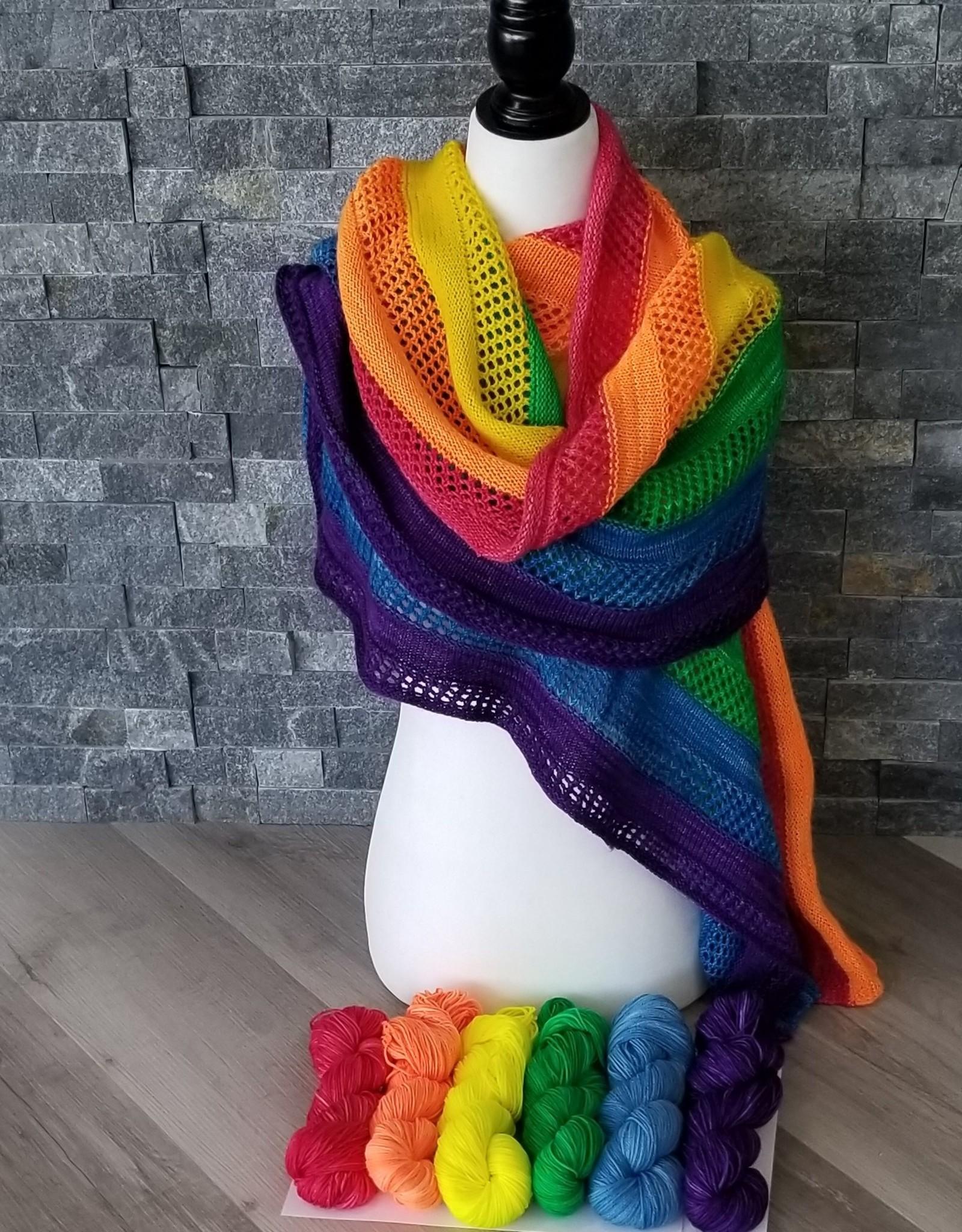 Fergus Yarn Co. Rainbow Love Shawl Kit