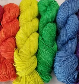 Fergus Yarn Co. Rainbow Love Sparkle Shawl Kit