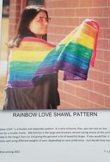 Rainbow Love Pattern - Knit