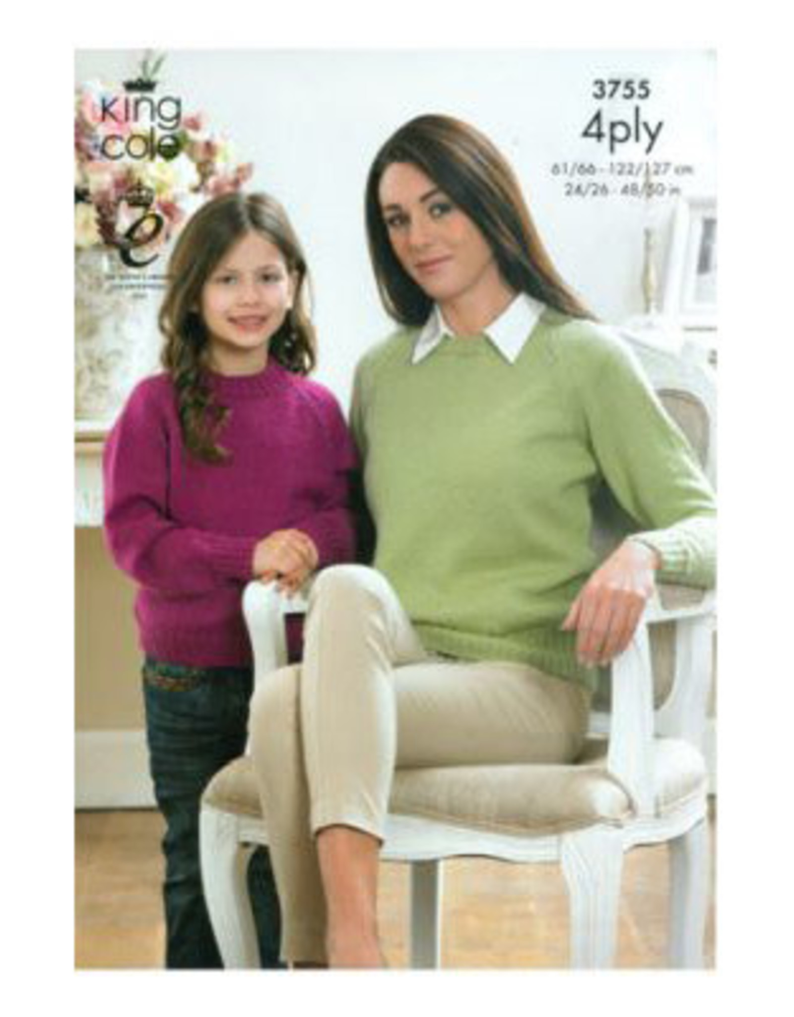 King Cole Pattern - 4ply Sweater, Unisex - 3755