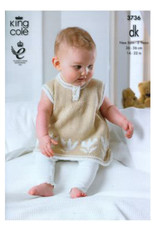 King Cole Pattern - Baby Dress & Sweater - 3736