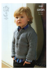 King Cole Pattern - Child's Sweater - 3340