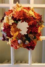 Crochet Project - Fall Leaves Wreath