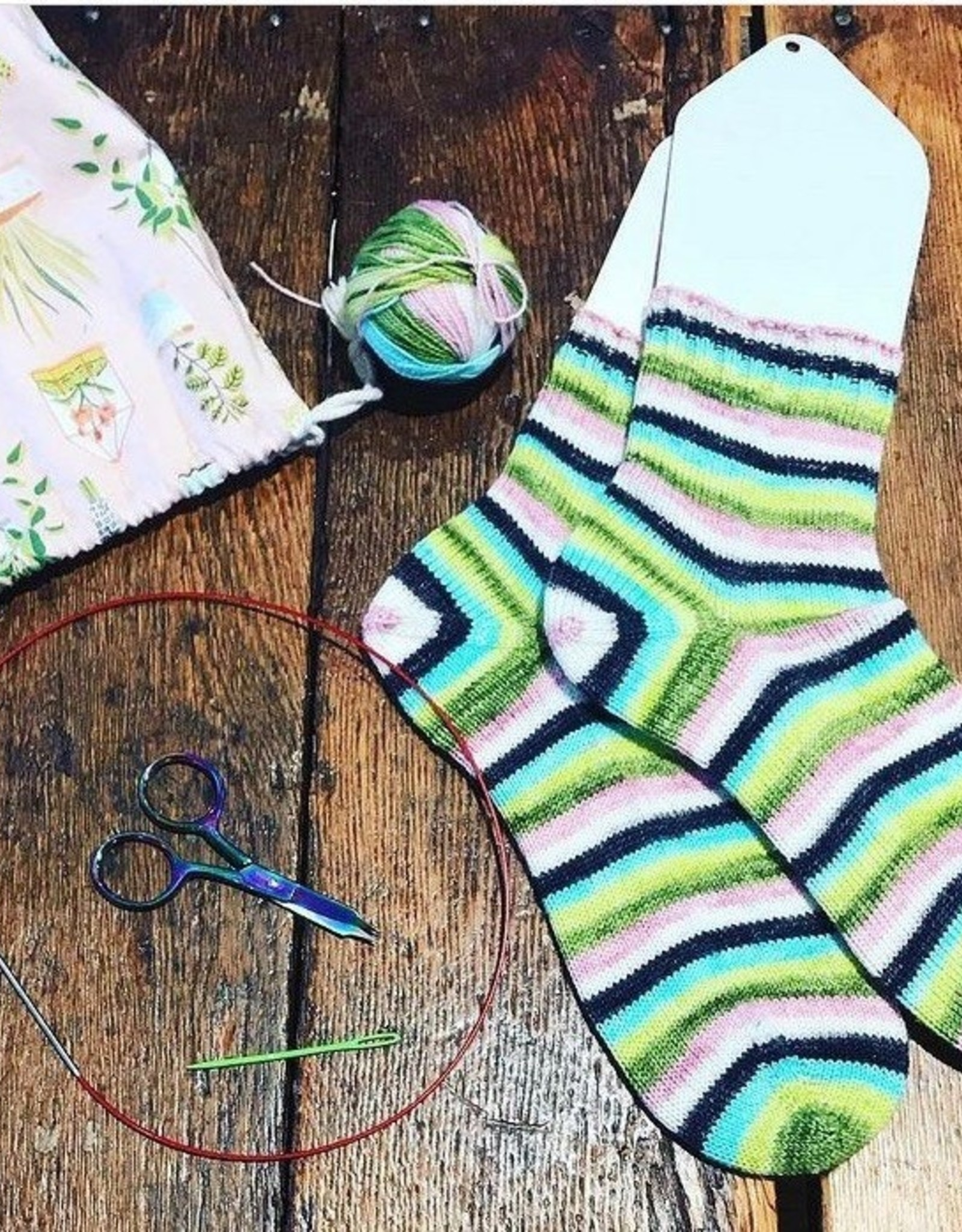 Knit Socks  - Two at a Time!
