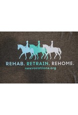 "Dark Grey ""Rehab. Retrain. Rehome."" T-Shirts"