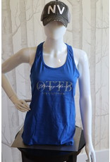 Royal OTTB with Thoroughbred script Racerback Tank Top