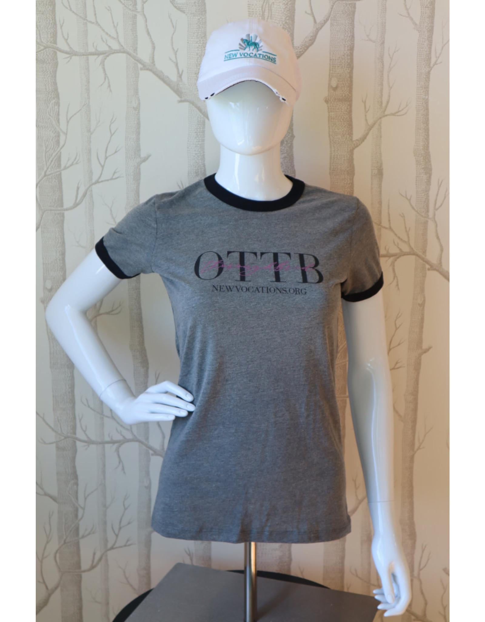 Deep Heather OTTB with Thoroughbred script T-Shirt (Women's cut)