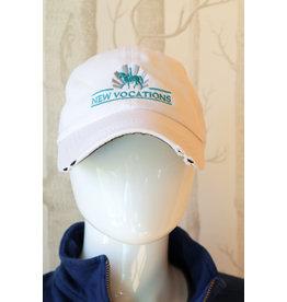 White Trucker Logo Adjustable Hat