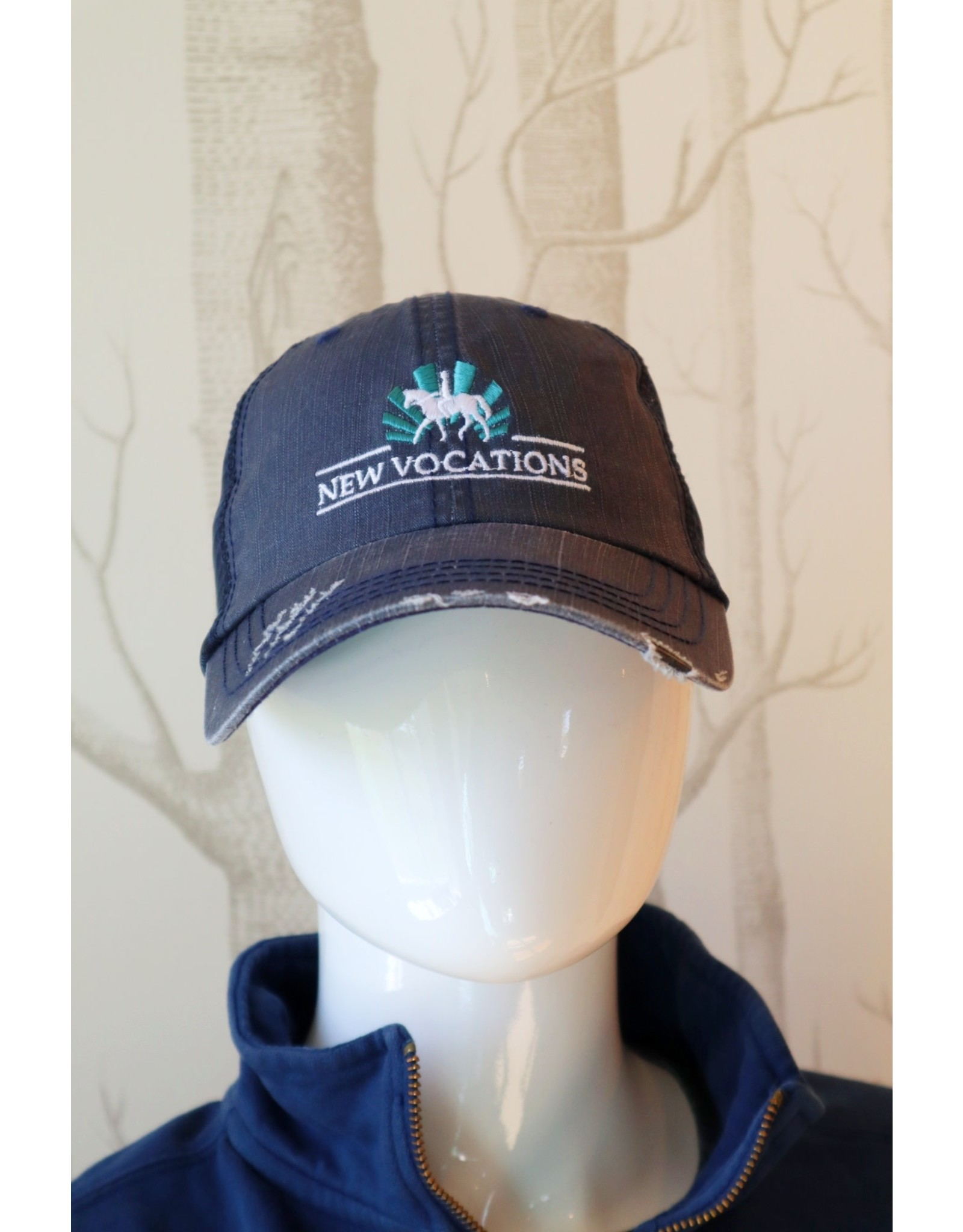 Navy Trucker Logo Adjustable Hat