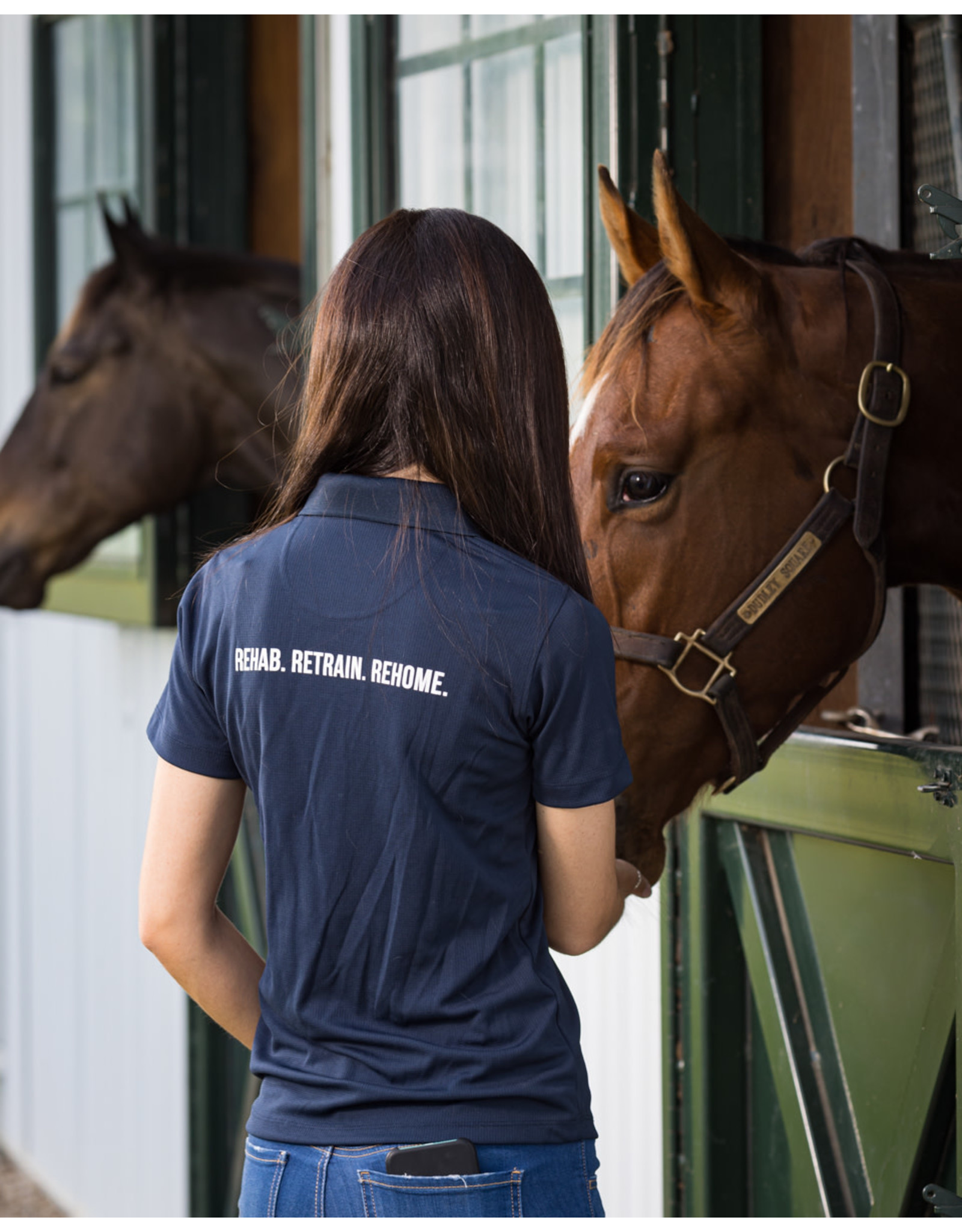 Navy Women's Polo Shirt