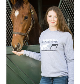 """Grey """"Raised to Race, Recycled to Ride"""" Marble Sweatshirt"""