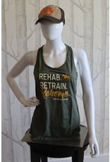 Rehab. Retrain. Rehome. Racerback Tank Top