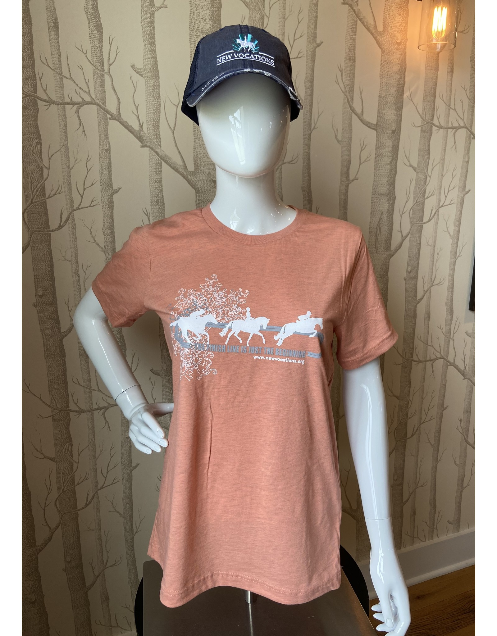 """Coral Heather """"Finish Line is Just the Beginning"""" T-Shirt"""