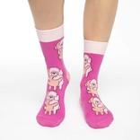 Good Luck Sock Pink Crew