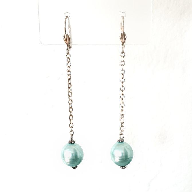 Ellice and Her Necklace Ella Aqua Earrings