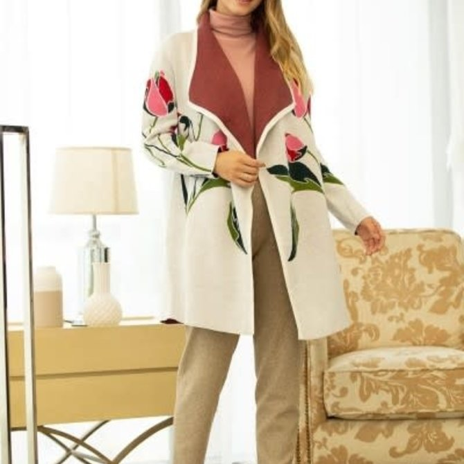 Abstract Bloom Tulip Coat SD-180230