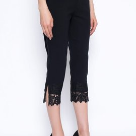 Picadilly Lace Trim Capris YM999