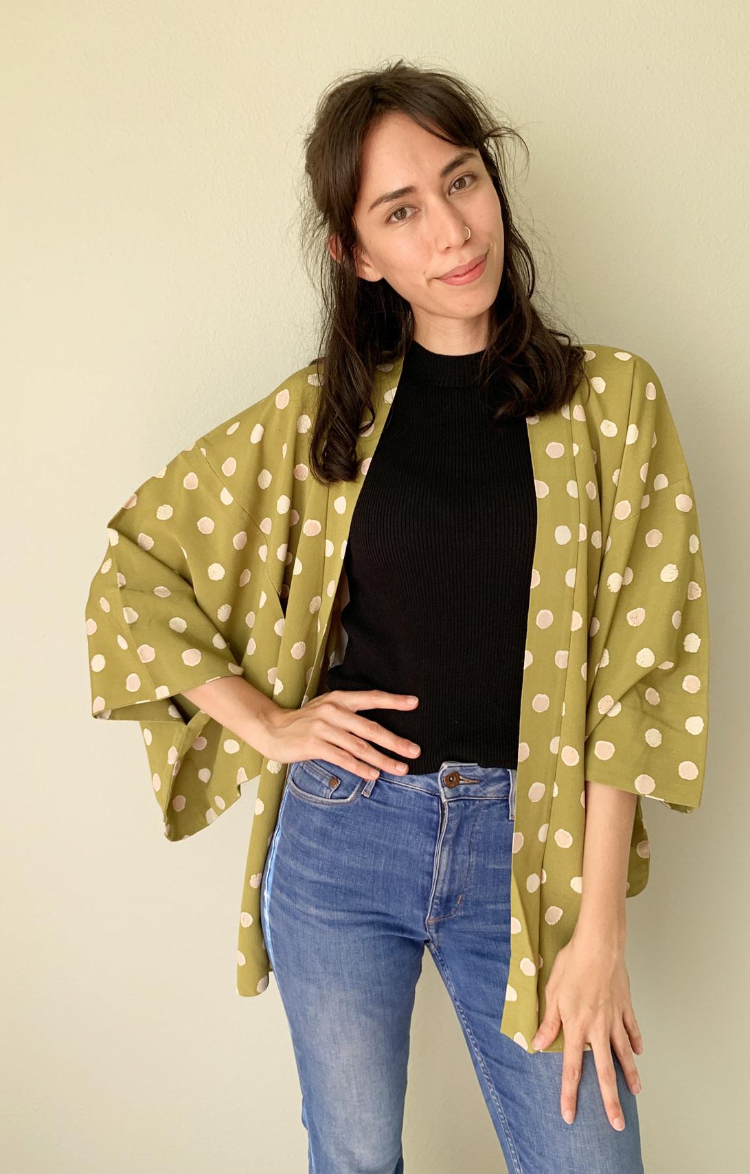 Haori Vintage Kimono Jacket. Japanese Kimono Kimono Jacket