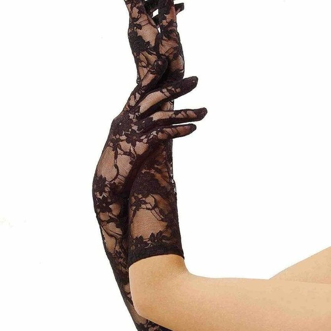 Leg Avenue G1850 Elbow Length Lace Gloves