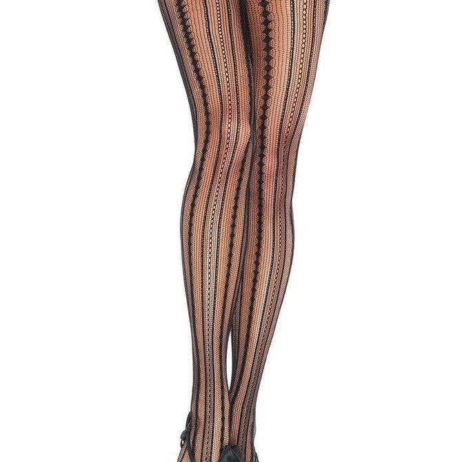 Leg Avenue 9649 Vintage Pinstripe Net Tights