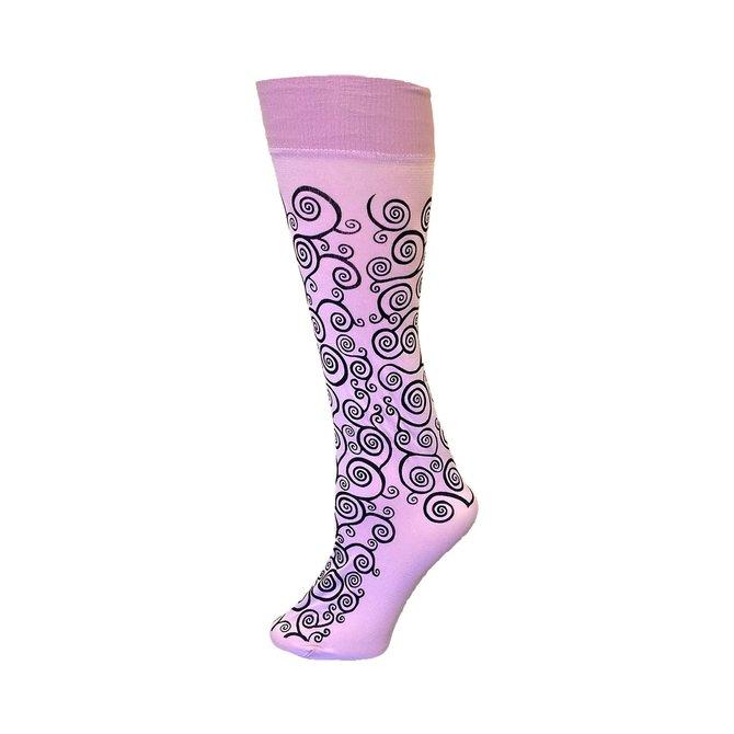 Polonova Hand-Printed Trouser Sock Klimt