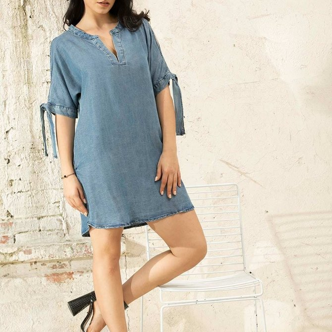Cold-Shoulder Tunic DN-02