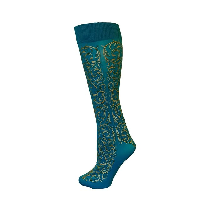 Polonova Hand-Printed Trouser Sock Faberge