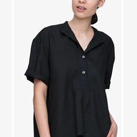 The Sleep Shirt SS Cropped Sleep Shirt Linen