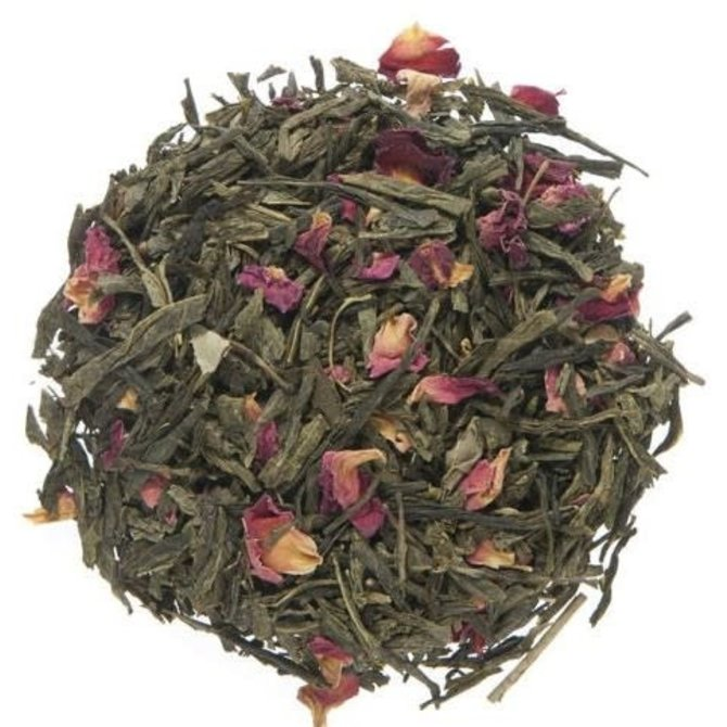 Metropolitan Tea Company Loose Leaf Green  Sencha Kyoto Cherry Rose 75g