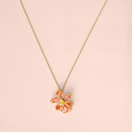 Ellice and Her Necklace Orchid Pendant