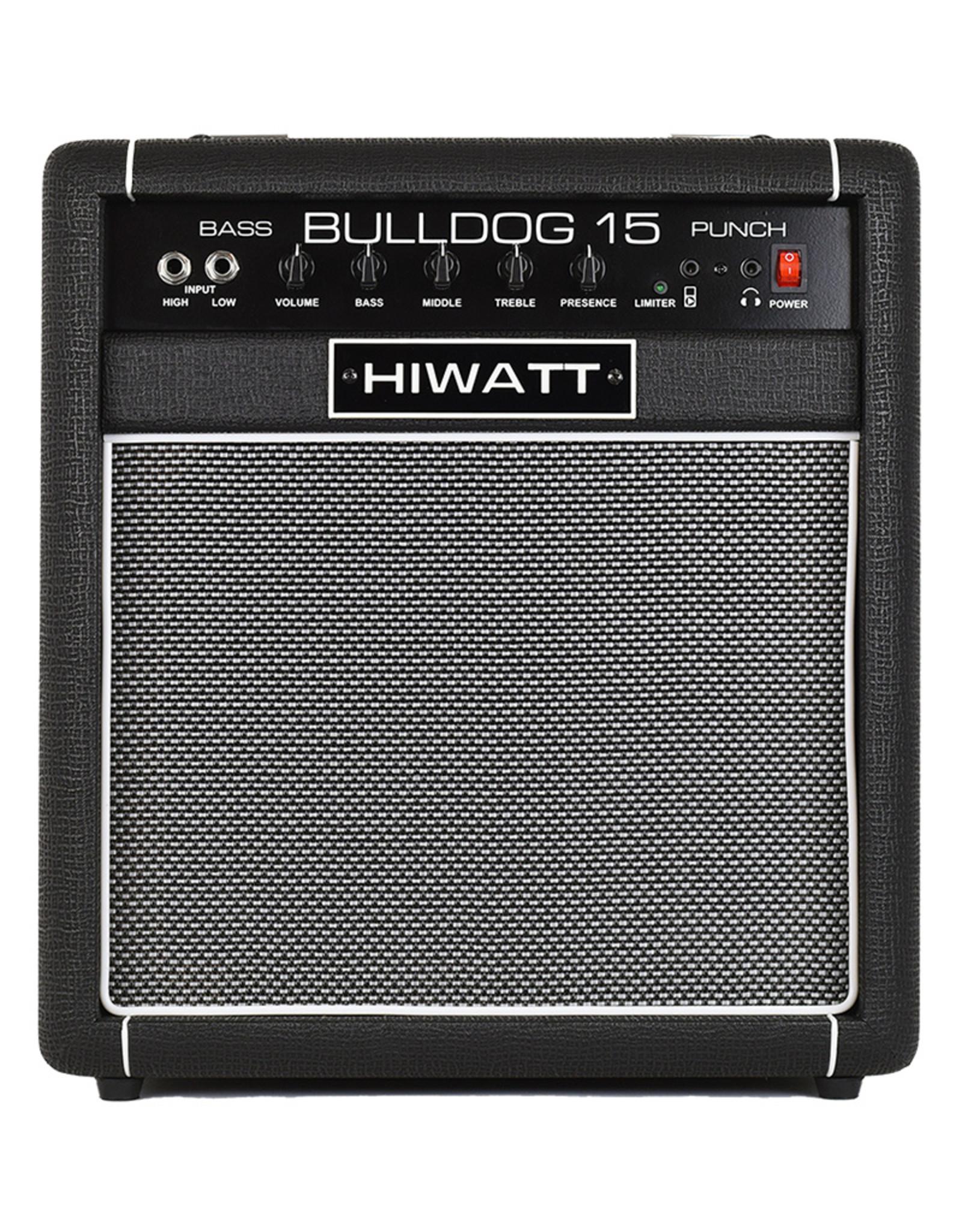"HiWatt Bass Amp Bulldog 15W Combo with 1x8"" Speaker"