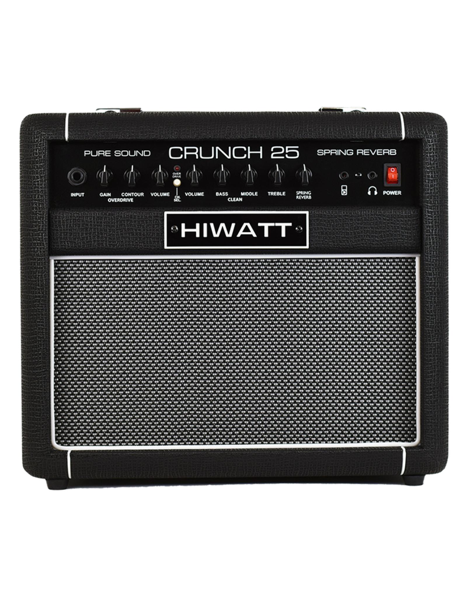 "HiWatt Crunch Amp 25W Combo with 1x8"" Speaker & True-Spring Reverb"