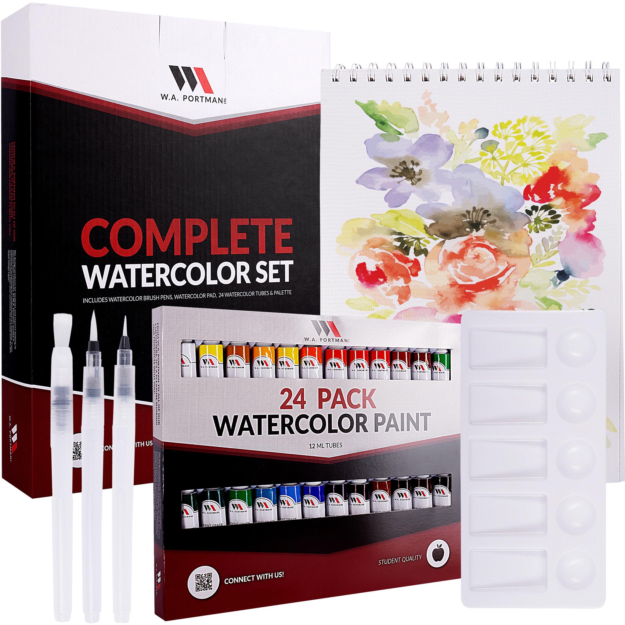W.A. Portman Complete Watercolor Kit 29pc