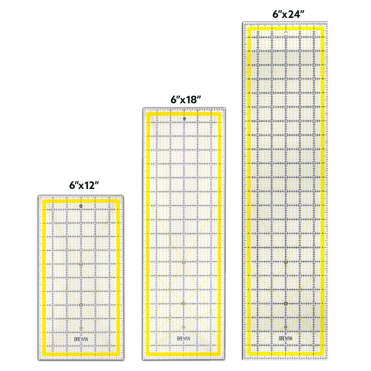 W.A. Portman Acrylic Quilting Ruler (6x12, 6x18, 6x24)