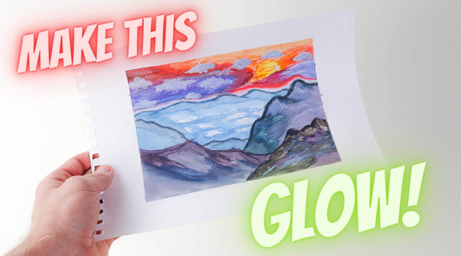 """""""How to add GLOW POWDER to ANY painting!"""""""