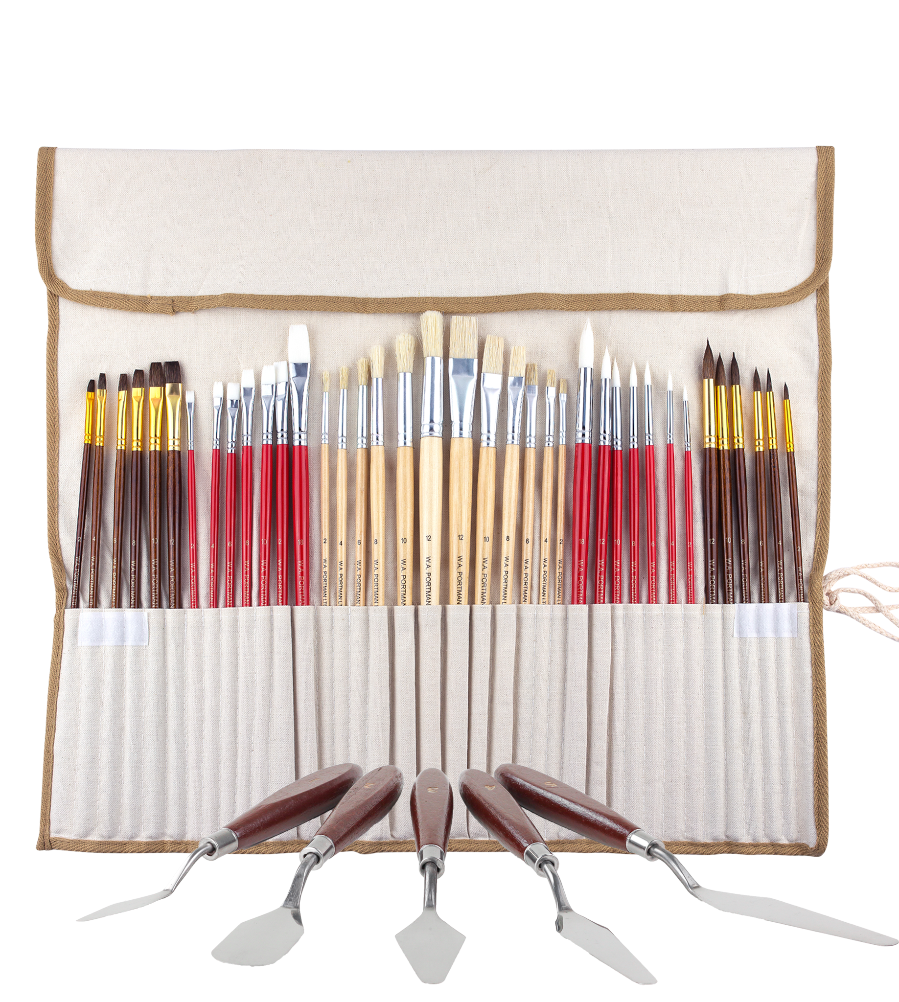 W.A. Portman Professional Paint Brush Set 38pc